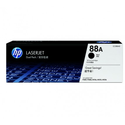 HP 88A Black Crtg Dual Pack
