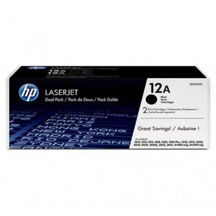 HP 12A Black Dual Pack LaserJet Toner Cartridges